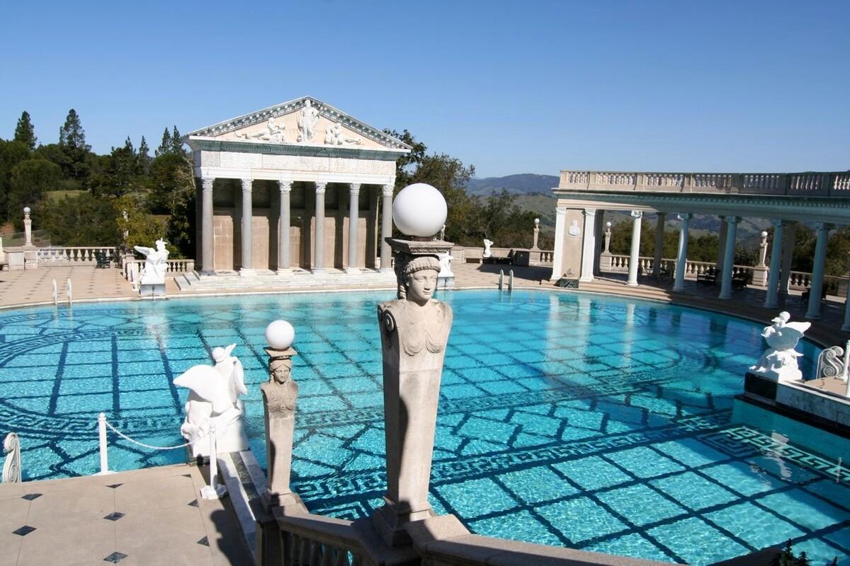 Нептунов бассейн, замок Херста, Сан-Симеон, Калифорния