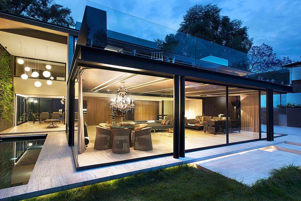 стеклянные фасады домов фото