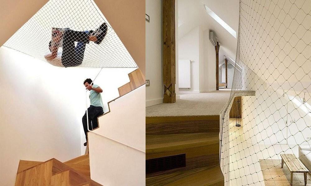 ограждение лестницы на втором этаже