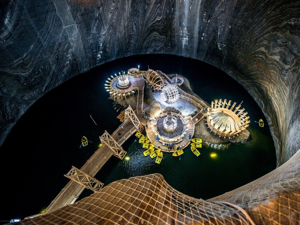 соляная шахта в Румынии