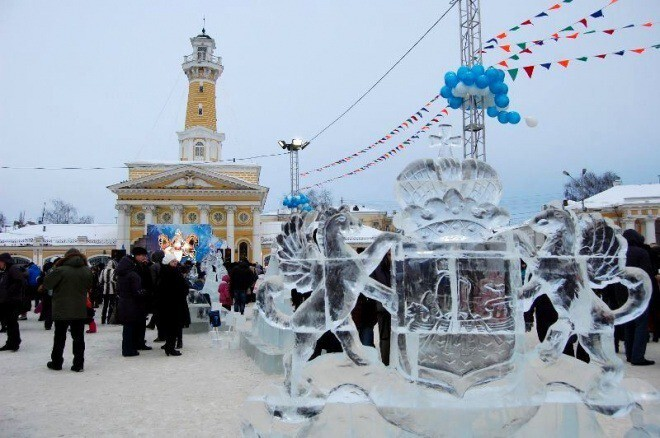 Костромской фестиваль снежно-ледовых скульптур отпразднует новоселье