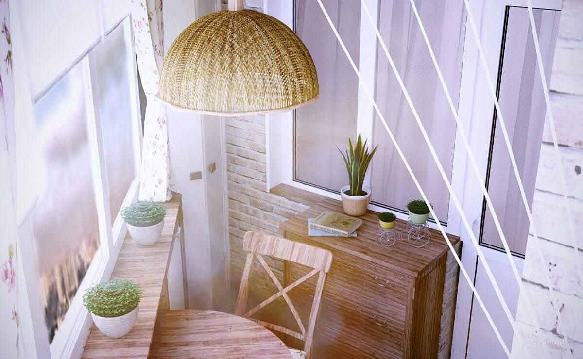 маленький балкон в стиле прованс