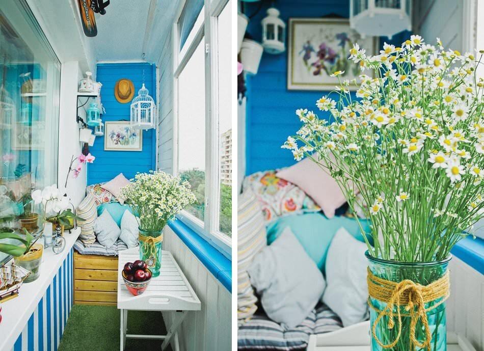 цветы в интерьере в стиле прованс