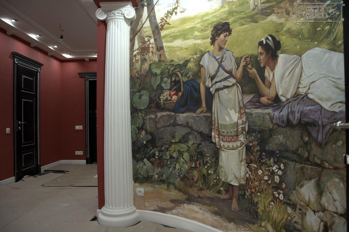 фреска в коридоре