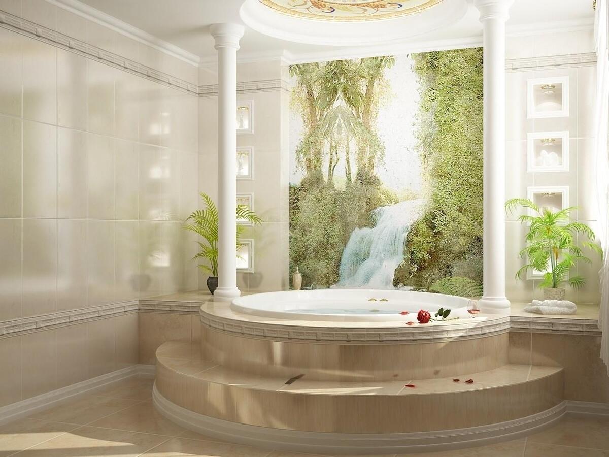 фреска в ванную
