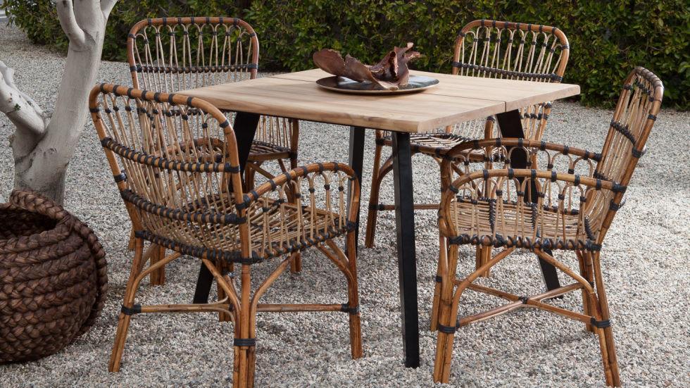 плетеная мебель в стиле ретро