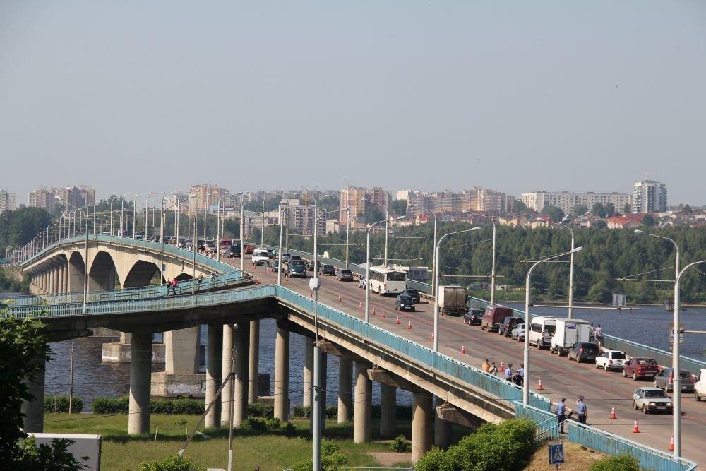 Изменение организации дорожного движения на время ремонта моста через реку Волга