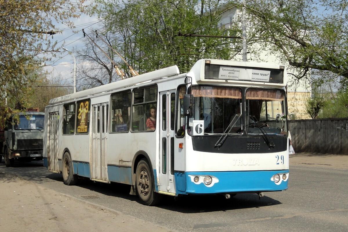 В Костроме временно приостановлено движение троллейбусов по маршруту № 6