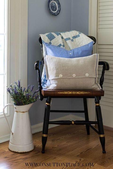 самодельные подушки для стула