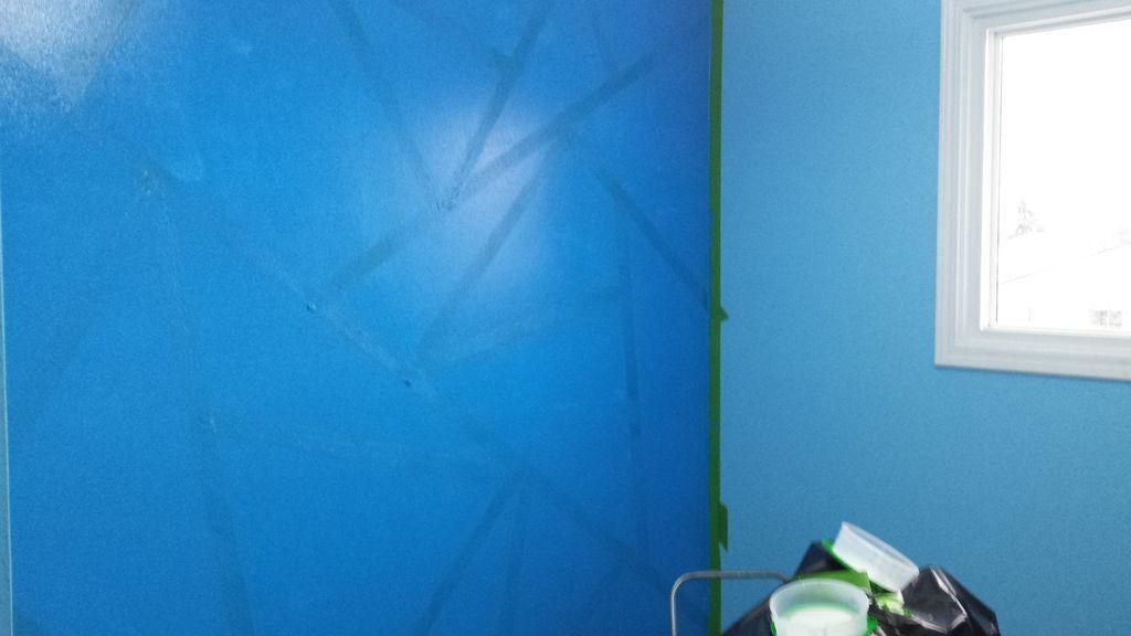 геометрические узоры на стенах своими руками