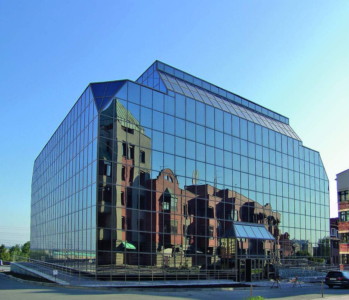 фасады стеклянные фото