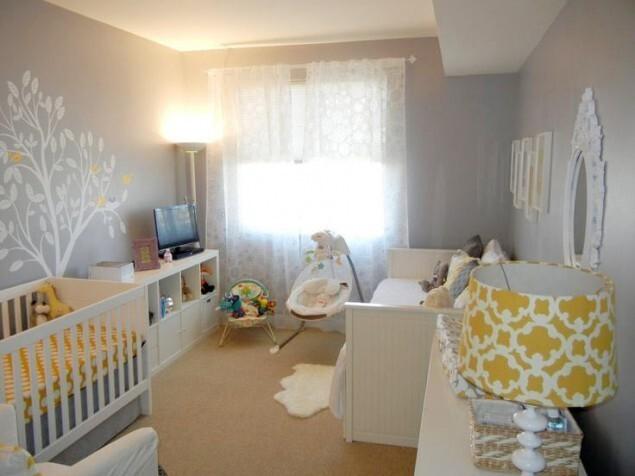 шторы в комнате для новорожденного