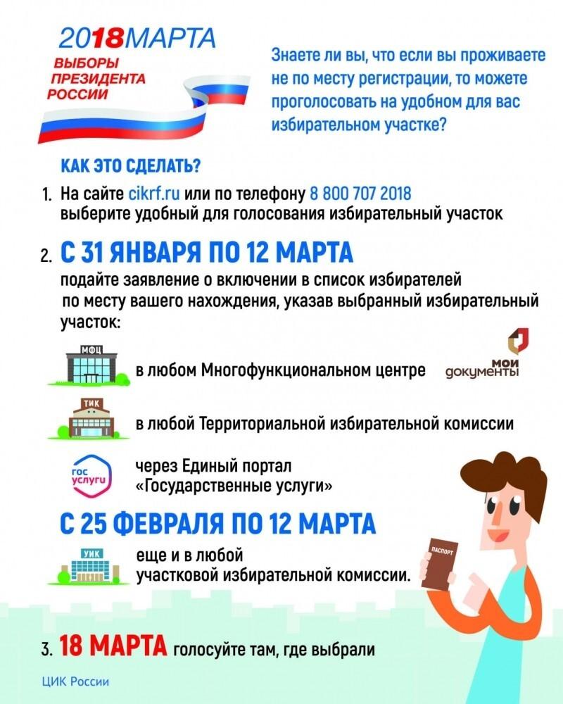 Жители Рыбинска могут оформить заявление на голосование на выборах президента  по месту пребывания