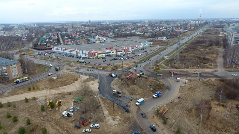 В Рыбинске открывается участок дороги в районе ТЦ «Аксон»