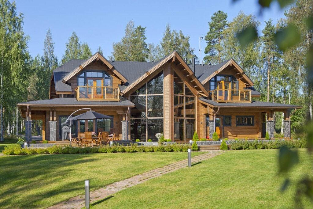 красивые деревянные дома и коттеджи проекты фото предстала перед