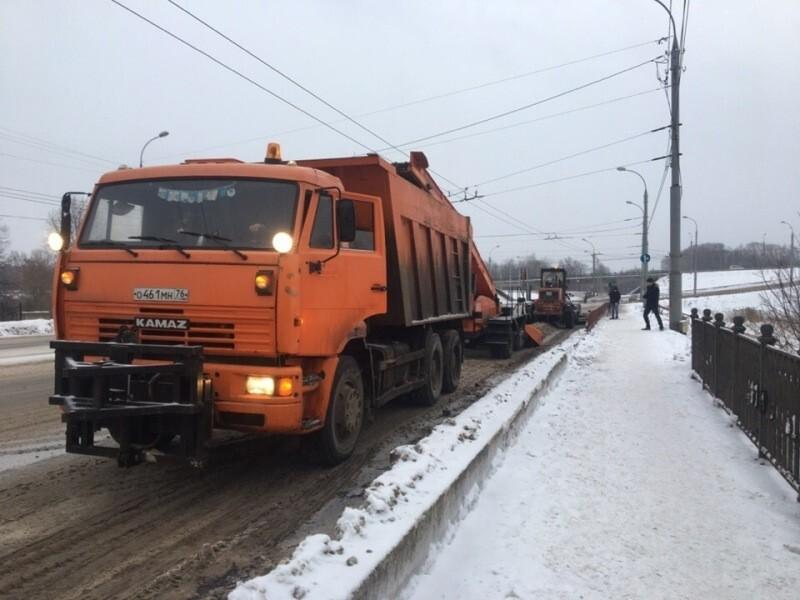 С начала зимы с дорог Рыбинска вывезено 25,5 тысяч м³ снега