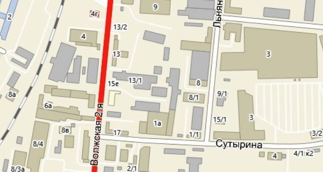 В связи с реконструкцией коллектора ливневой канализации на улице 2-й Волжской вводится ограничение для движения транспорта