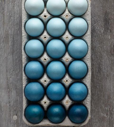 яйца на пасху градиент
