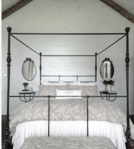 дизайн кованой кровати