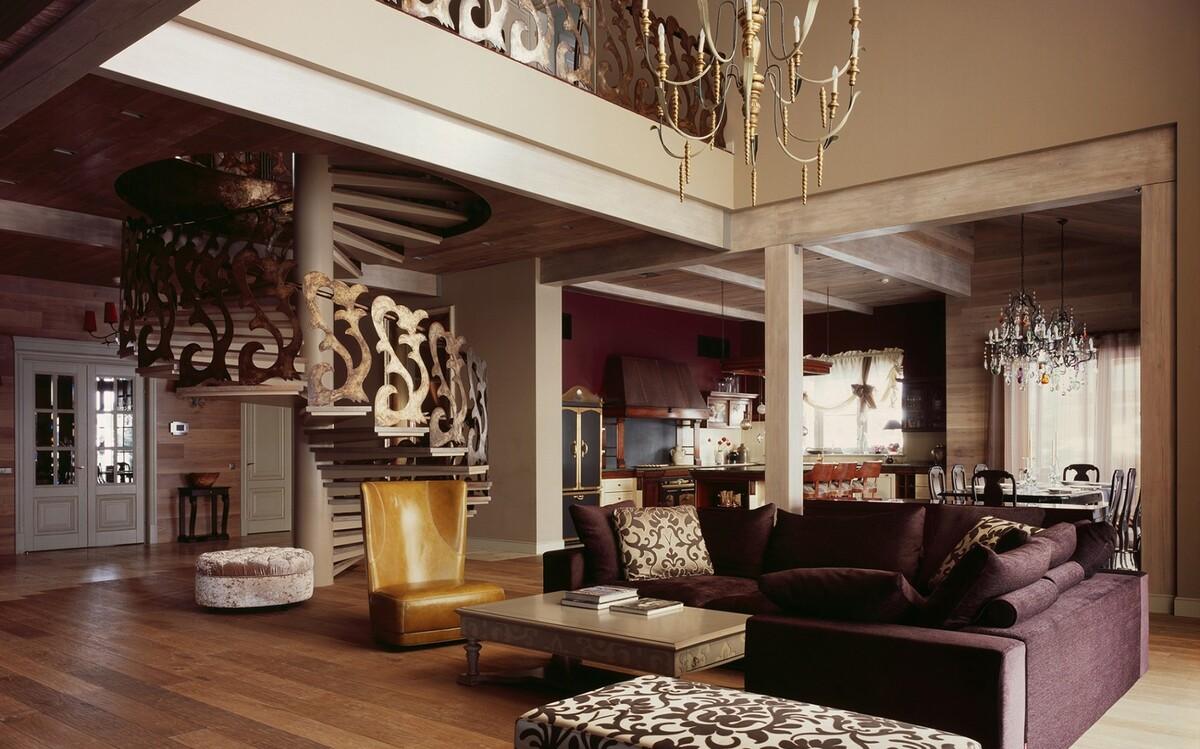 интерьер дома в стиле фьюжн