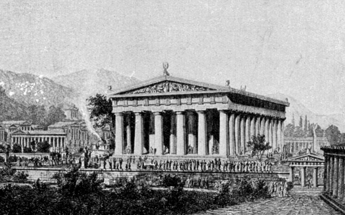 Олимпийский храм Зевса реконструкция