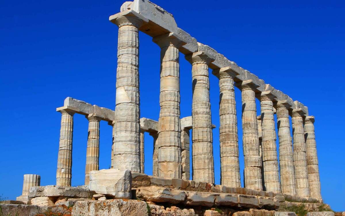Храм Посейдона с разных ракурсов