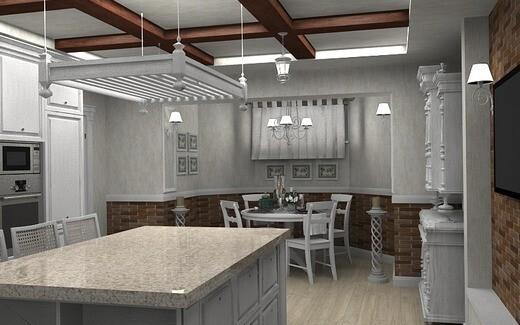 кухня на цокольном этаже
