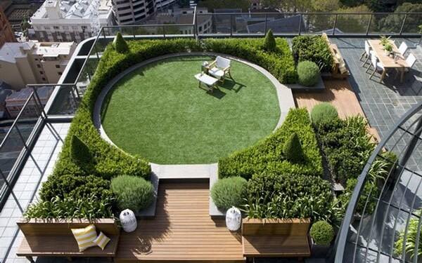 сады на крыше домов