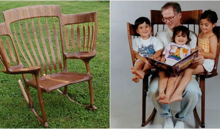 Трехместное кресло-качалка, или лучшее изобретение для дедушек