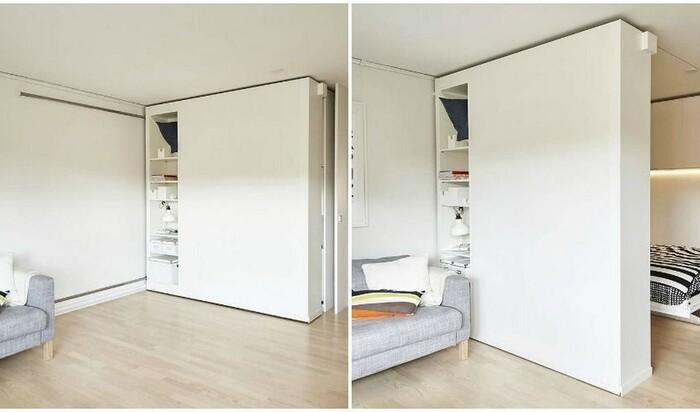 Передвижные стены от IKEA для моделирования интерьера