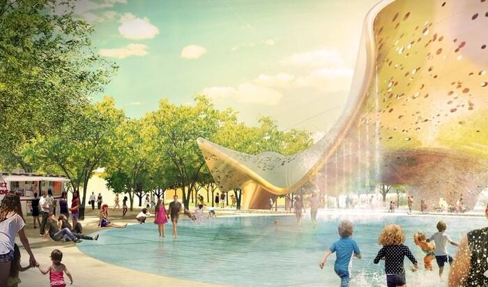 Проект инновационного городского парка в американском городе Меса