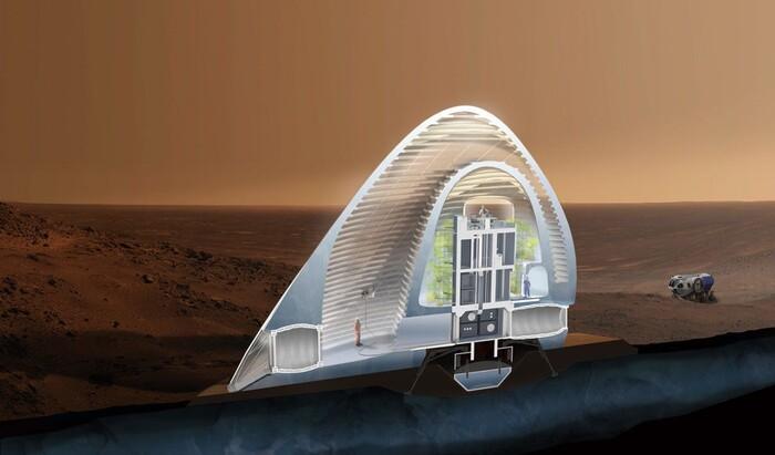 Как будет выглядеть первое жилье на Марсе?