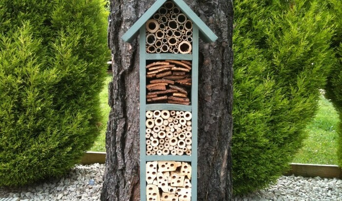 Строительство на дачном участке: отель для пчел