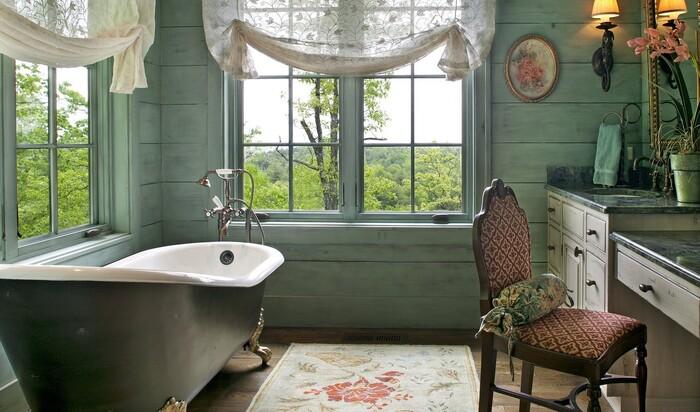 Занавески в ванной комнате - необходимость и украшение