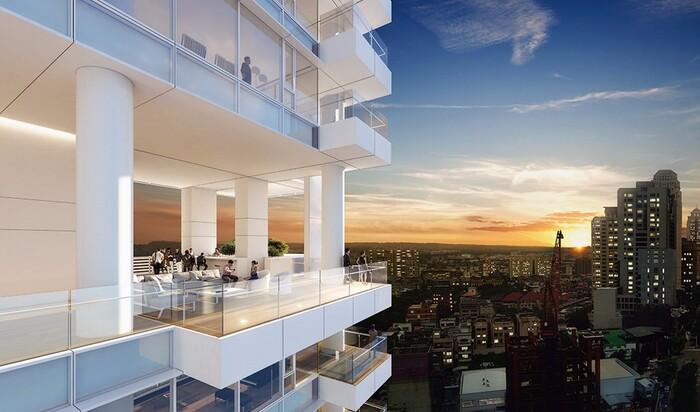 Ричард Майер строит небоскреб-кондоминиум в Тайвани