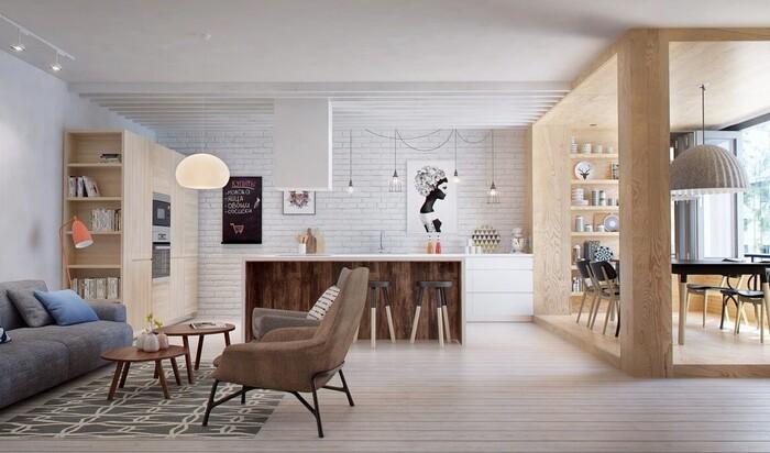 Скандинавский стиль в интерьере малогабаритных квартир: дизайн для спокойствия