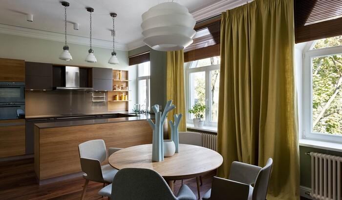 Киевские апартаменты с фокусом на натуральные материалы
