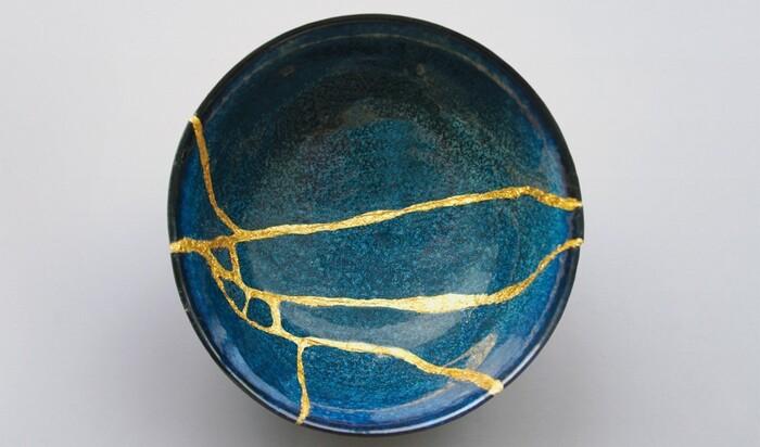 """Японское искусство кинцуги - """"исцеление"""" трещин на посуде и не только"""