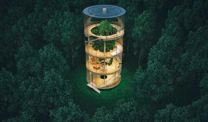 Дом на дереве или дерево в доме? Казахский архитектор выбирает второй вариант