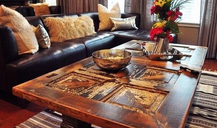 6 идей, как использовать старую дверь для декора интерьера