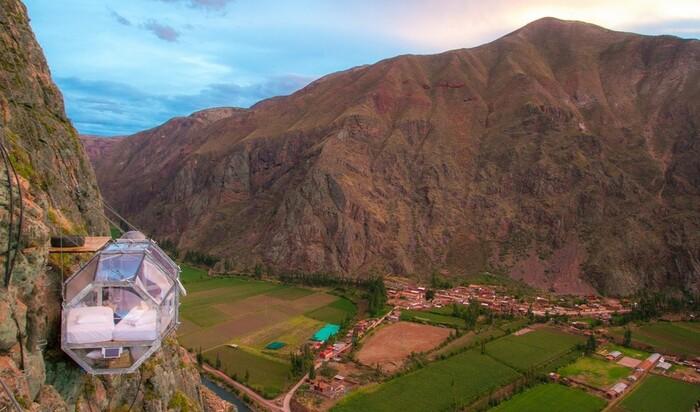Отель Skylodge - для тех, кто хочет увидеть Перу с высоты птичьего полета