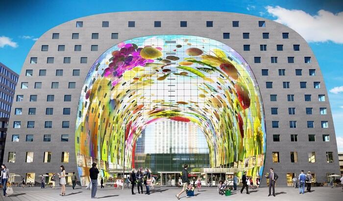 Роттердам: крытый рынок Markthal как новый символ города