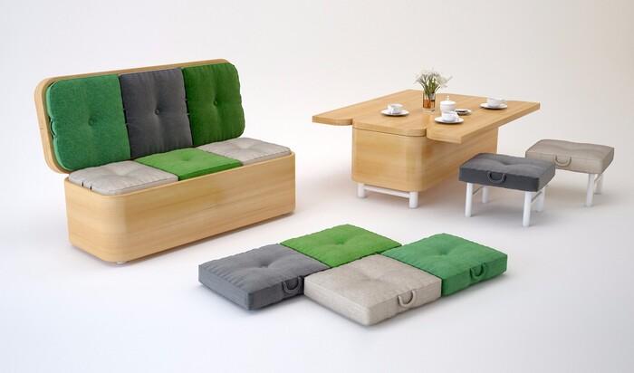 Мебель, которая выполняет сразу несколько функций
