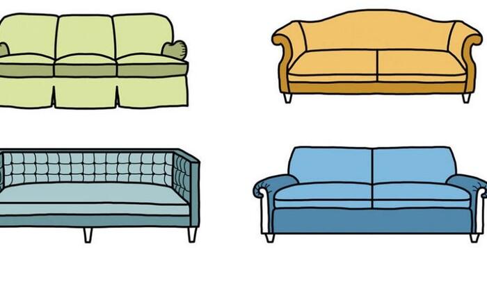 Мебель вокруг нас: а вы можете назвать девять разных видов диванов?