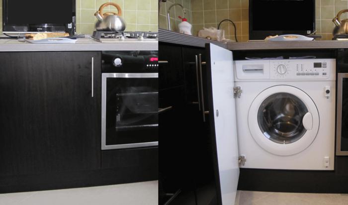 Стоит ли устанавливать стиральную машинку на кухне: за и против