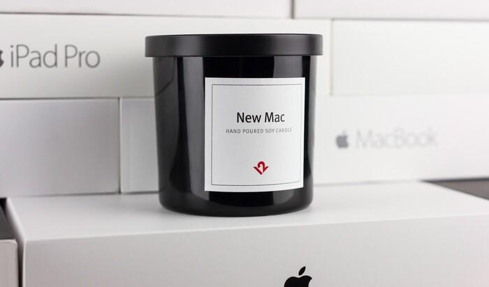 Грёзы об Apple: свеча с запахом новенького макбука