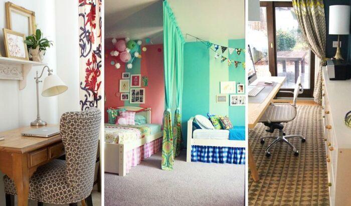Дизайн комнат с разделением на зоны: фото реальных примеров помещений с разными функциями
