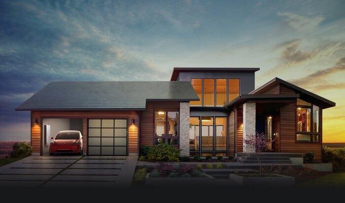 Солнечные батареи на крышу от Solar city и Tesla