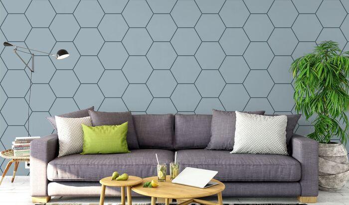 Рисунок на стене в квартире своими руками: серебряные шестиугольники маркером