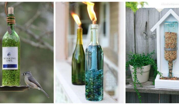 Стеклянные бутылки на даче:  7 способов использовать стеклотару в саду